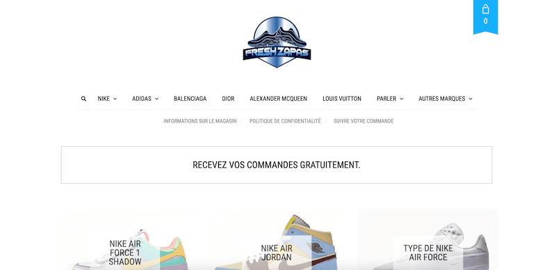 Review - Avis et test du site de sneakers fake freshzapas