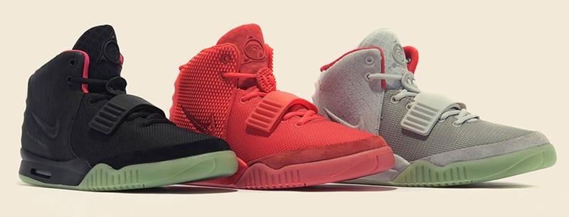 Les trois colorways de la Nike Air Yeezy 2