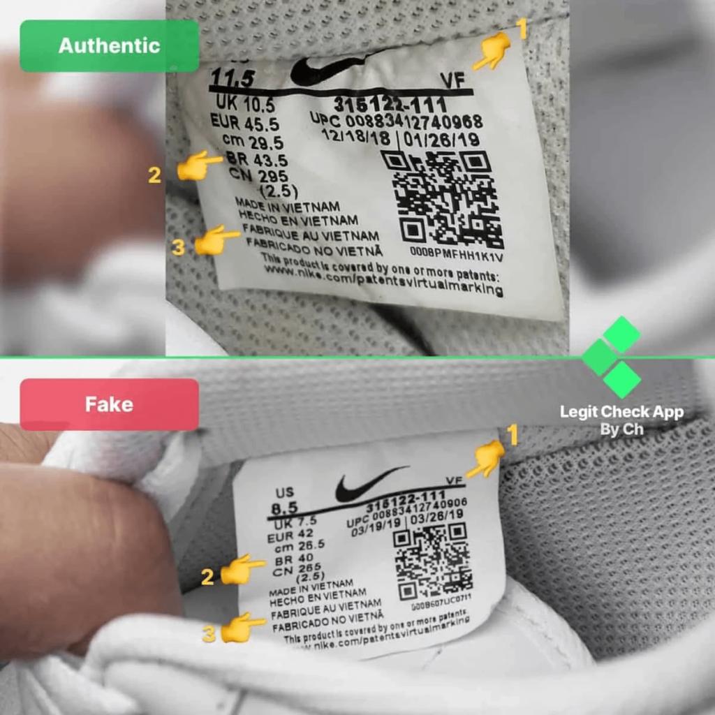 Arnaque : Comment reconnaître une fausse Nike Air Force 1 ?
