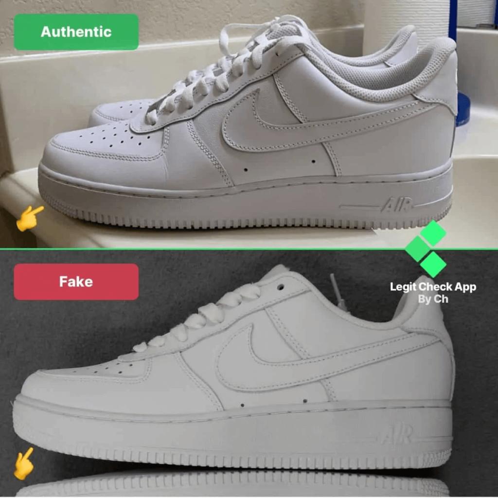 Comment reconnaître une fausse Nike Air Force 1 ?