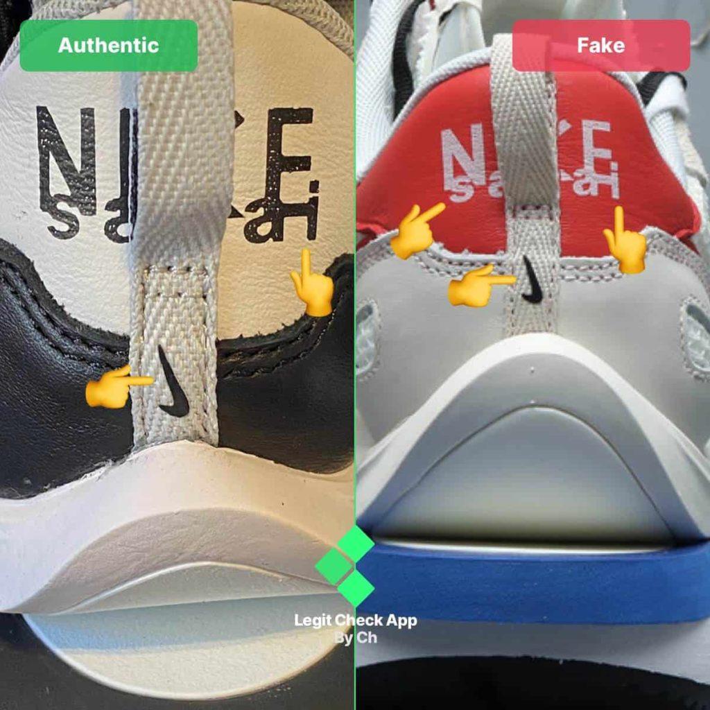 Comment reconnaître une fausse sacai x Nike VaporWaffle