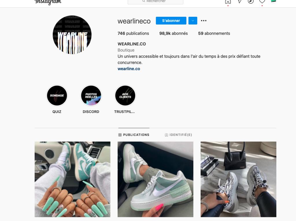 legit check - site contrefaçon sneakers - wearline.co